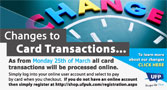 Changes to Card Transactions...