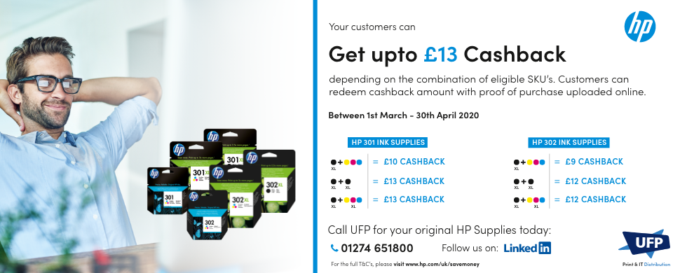 HP Ink cashback