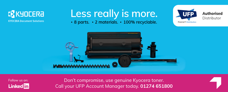 Less Is More Kyocera Web Banner UFP