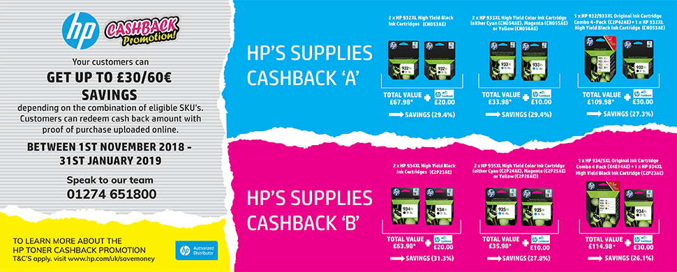 HP Ink cashback promo